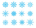 Set of snowflake / vector illustration Stock Photos