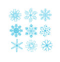 Set of snowflake vectors for background Royalty Free Stock Photos