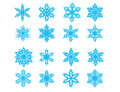 Set of snowflakes Royalty Free Stock Photography