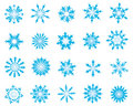 Set of snowflakes Stock Images