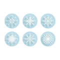 Set of snowflakes for design Stock Image