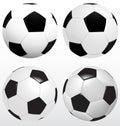Set Of Soccer Ball, Football Vector On White Background, Sport