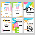 Set of social media sale banners template