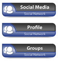 Set of social network elements vector illustration Royalty Free Stock Photos