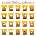 Set of social network icons Stock Photos