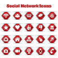 Set of Social Network Icons Royalty Free Stock Images