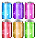 Set of soda cans illustration a on a white background Stock Photography