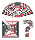 Set of sold labyrinths Royalty Free Stock Images