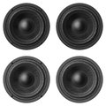 Set of sound speakers isolated on white background Royalty Free Stock Photo
