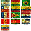 Set of south american flags Royalty Free Stock Photos
