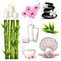 Set of spa icons vector illustration a Royalty Free Stock Images