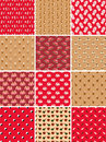 Set of spa seamless patterns Stock Image