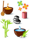Set of spa treatment symbols Royalty Free Stock Image