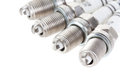 Set of spark plugs Stock Photography