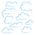 Set of speech bubble cloud sketch Royalty Free Stock Photo