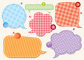 Set of speech bubbles Royalty Free Stock Photos