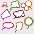 Set of speech bubbles Stock Photo