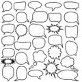 Set of speech bubbles. Blank empty vector white speech bubbles. Cartoon balloon word design.