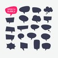 Set speech bubbles and blank template for quotes. Royalty Free Stock Photo
