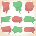 Set of speech bubbles and dialog balloons Royalty Free Stock Photo