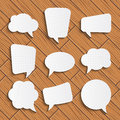 Set of speech bubbles Royalty Free Stock Photo