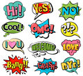 Set of speech bubbles in retro style Royalty Free Stock Photo