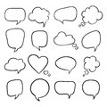 Set of speech bubbles sketch illustration Stock Images