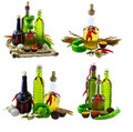 Set with spicy bottles Royalty Free Stock Photo