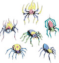 Set of spider tattoos Stock Photography