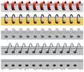 Set spiral paper binder Royalty Free Stock Photo