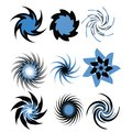 Set of Spirals Royalty Free Stock Photos