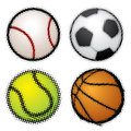Set of sport balls Royalty Free Stock Images