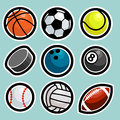 Set sport balls icons Stock Photo