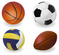 Set of sport balls. Vector Royalty Free Stock Image
