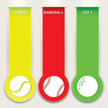 Set of sport banner vector illustration banners Stock Images