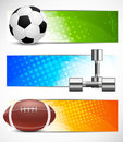 Set of sport banners Stock Photography