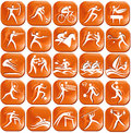Set of  sport icons Stock Photo