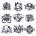 Set of sport logos