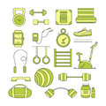 Set of sports elements. Royalty Free Stock Photo