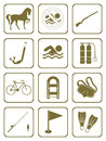 Set of sports equipment icons