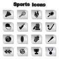 Set of sports icons Royalty Free Stock Image