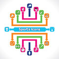 Set of Sports Icons Stock Images