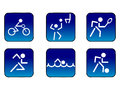 A set of sports related icons Stock Photos