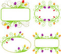 Set of spring frames Stock Image