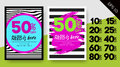 Set of Spring Sale Posters. Striped Vector Backgrounds.