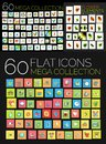 Set of square flat web icons Royalty Free Stock Photo