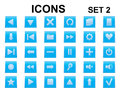 Set of square icons blue Royalty Free Stock Photos