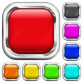 Set of square multicolored buttons Stock Image