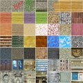 Set of square seamless textures mostly Royalty Free Stock Images