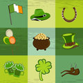 A set of St. Patrick's Day elements. Stock Photos